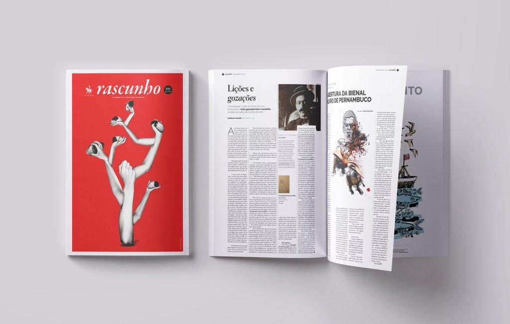 Design do Jornal Rascunho